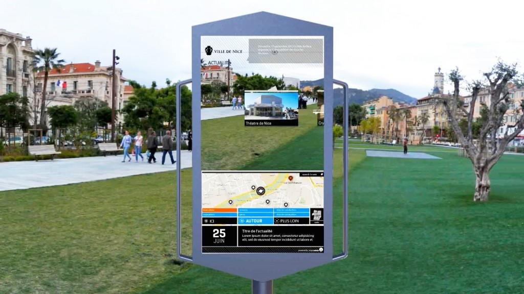panneau interactif ville nice